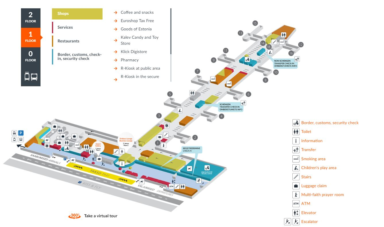 Tallinnan lentokenttä pohjakartta