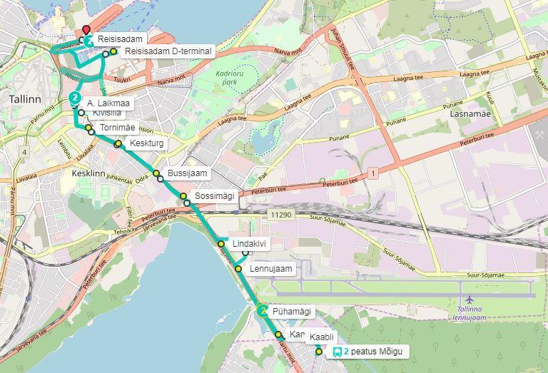 Tallinnan lentokenttä kartta