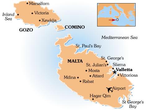 Maltan lentokenttä kartta
