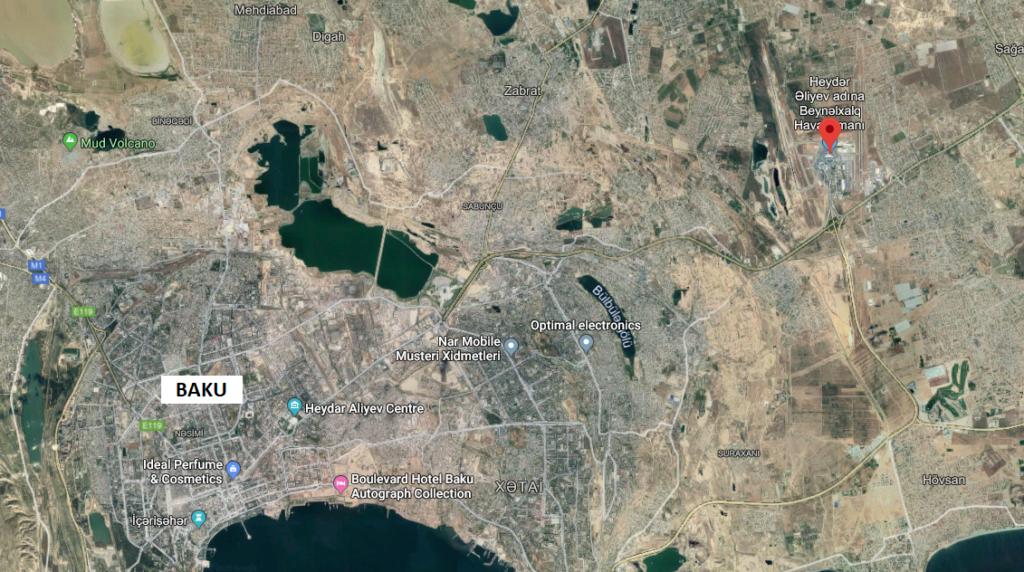 Bakun lentokenttä kartta