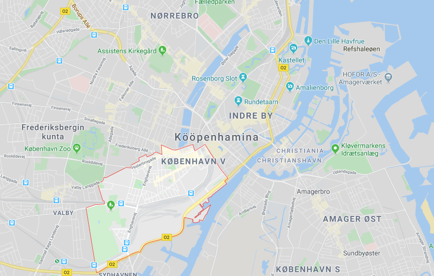 Vesterbro kartta