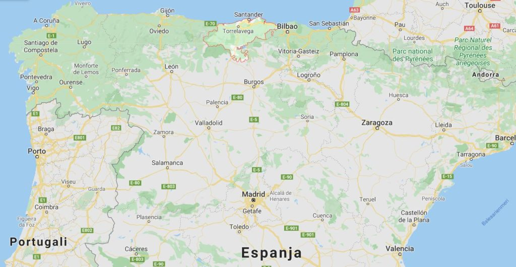 Cantabria kartta
