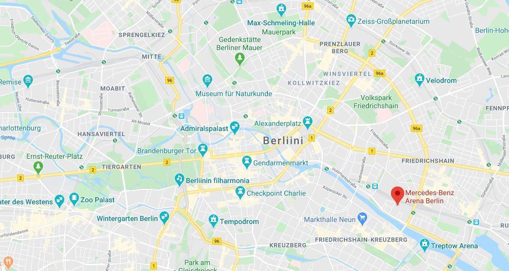 Mercedes Benz Arena Berliinin Jaahalli Ja Areena Euroopan