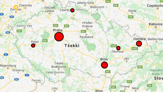 Tsekin Suurimmat Kaupungit Matkakohteina Euroopan Lentokentat