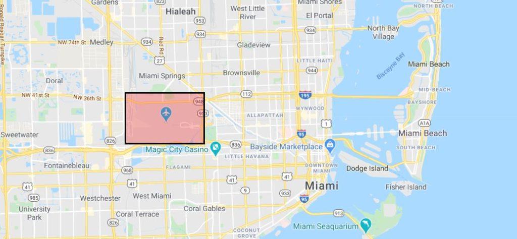 Miami lentokenttä kartta