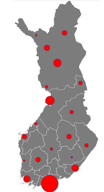 Suomen lentokentät kartta