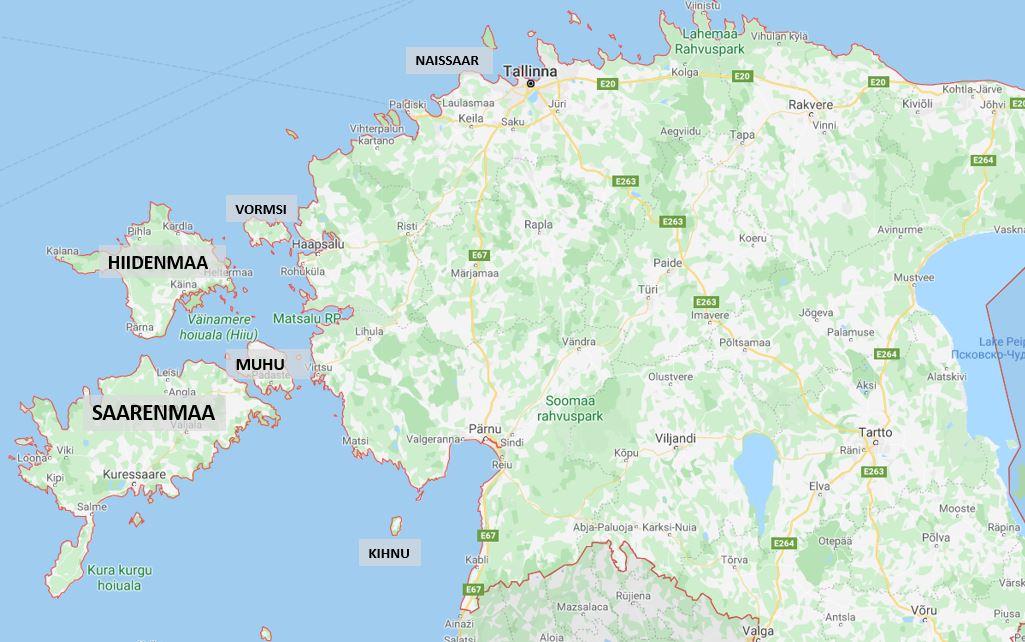 Viron saaret kartta