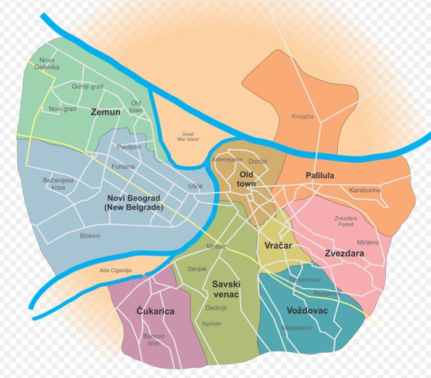 Belgrad kartta