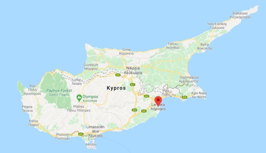 Larnaka kartta