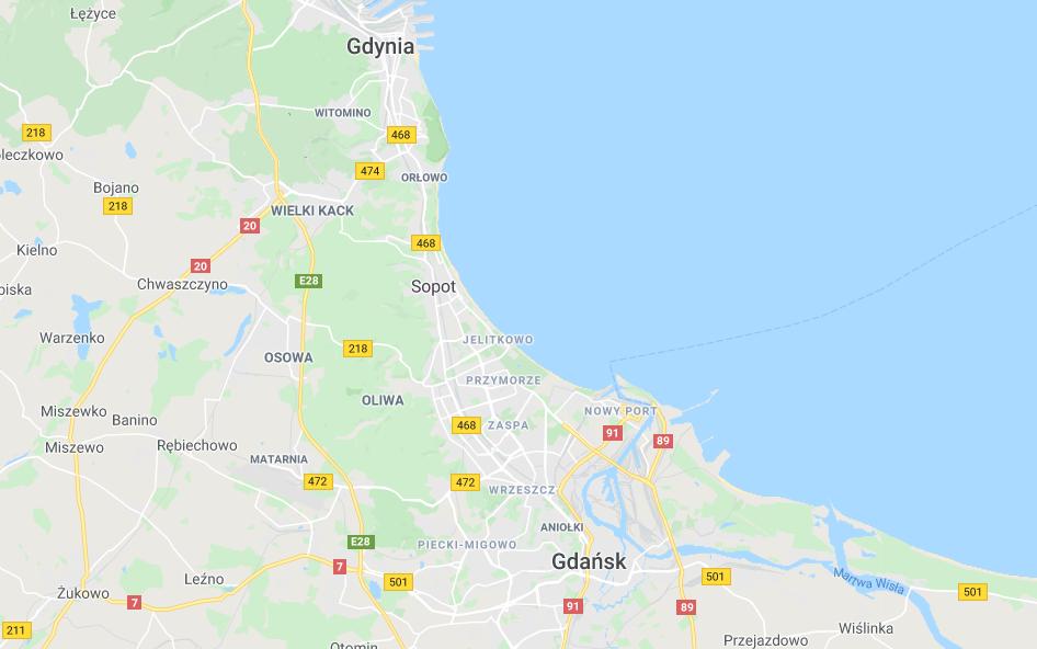 Gdansk Gdynia Sopot kartta