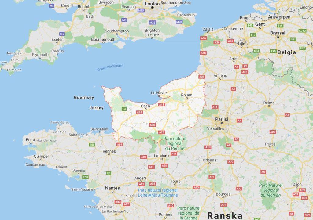 Normandia kartta