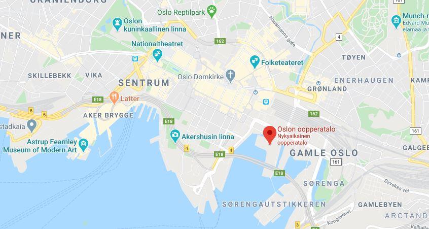 Oslon Ooppera kartta