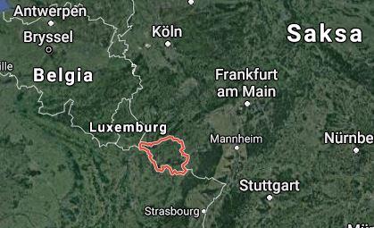 Saarland Saarinmaa kartta