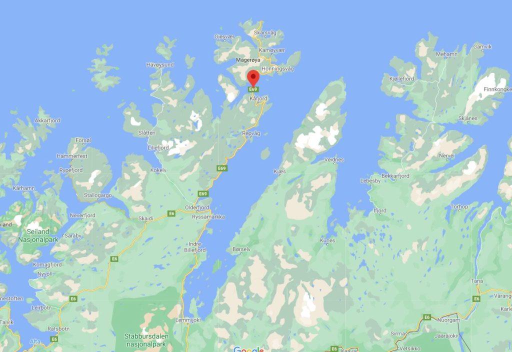 Nordkapp tunneli kartta
