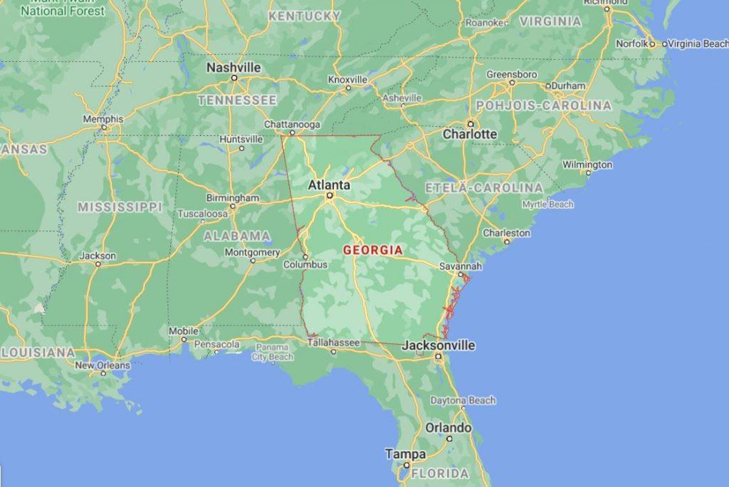 Kartta Georgia USA