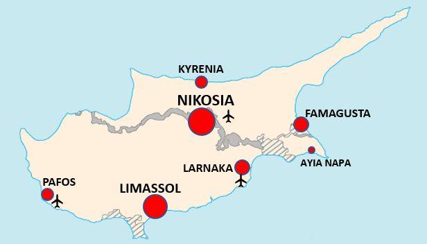 Kartta kypros