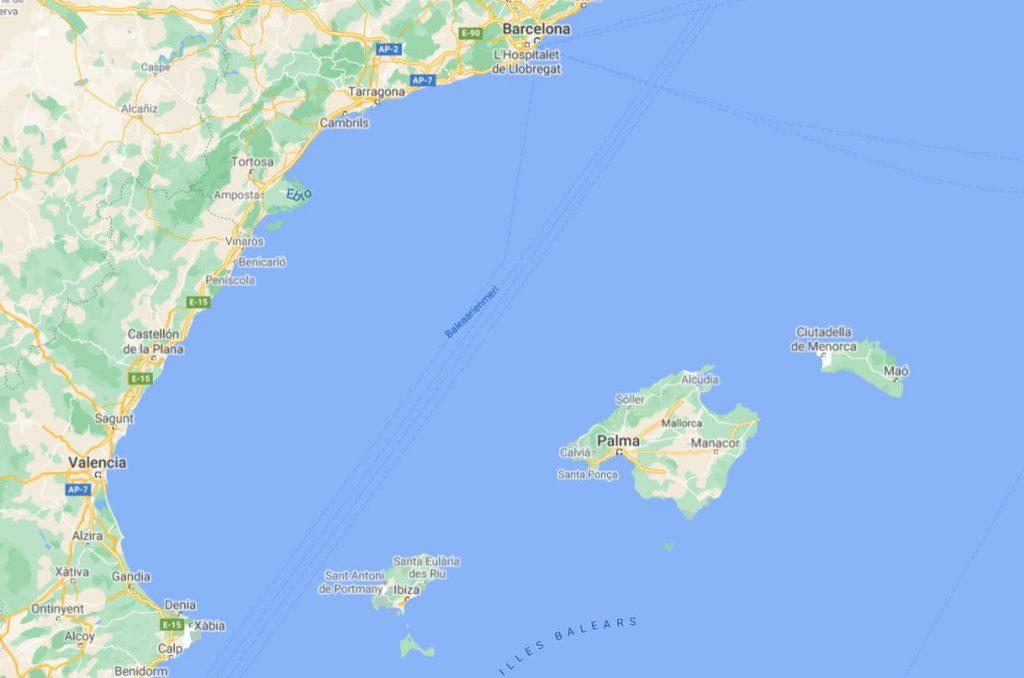 Baleaarit kartta