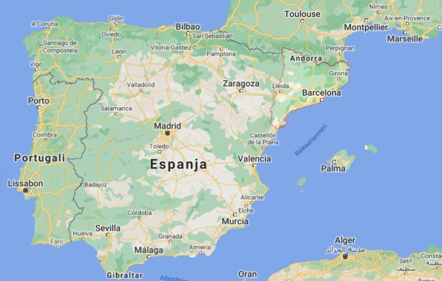 Katalonia kartta