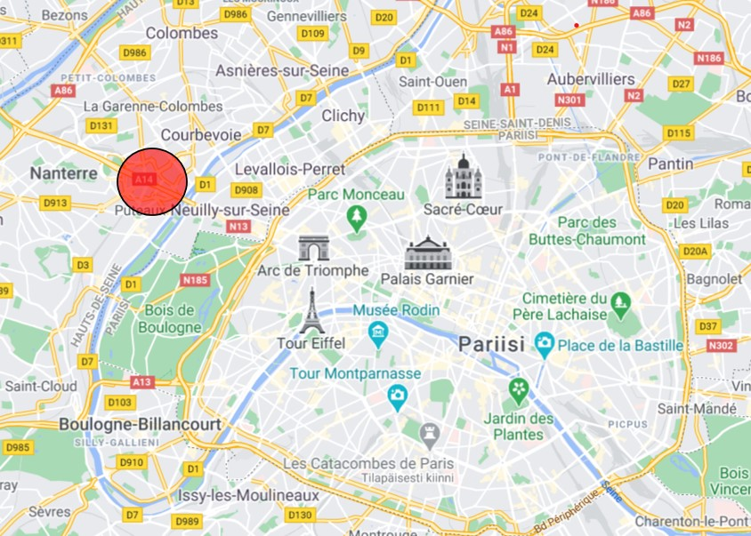 La Defense Pariisi kartta