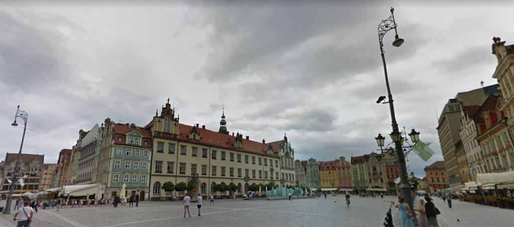 Wroclaw vanha kaupunki Puola