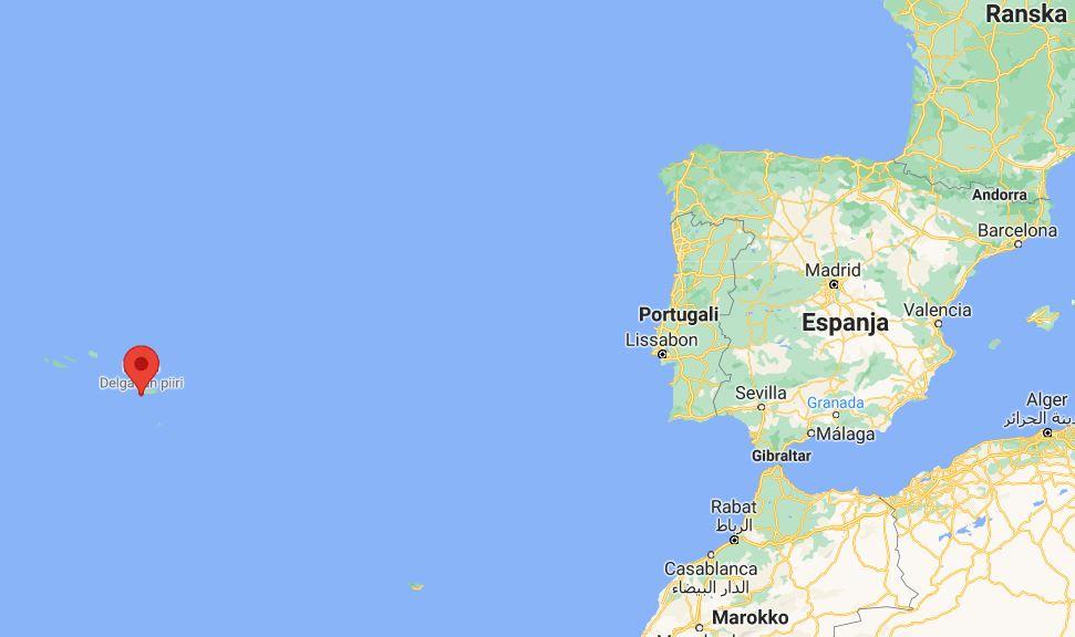 Azorit kartta sijainti