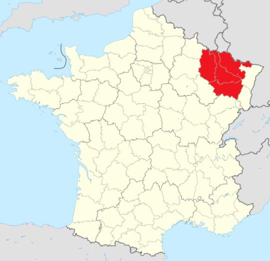 Lorraine kartta Ranska