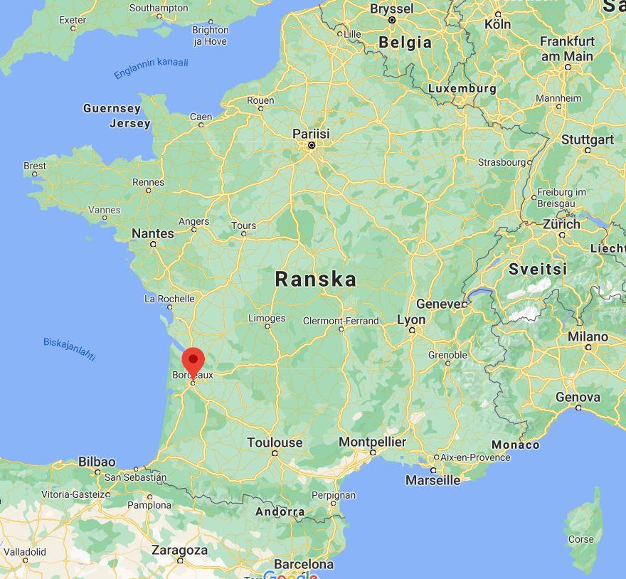 Bordeaux kartta