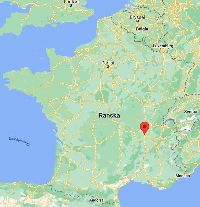 Lyon kartta Ranska