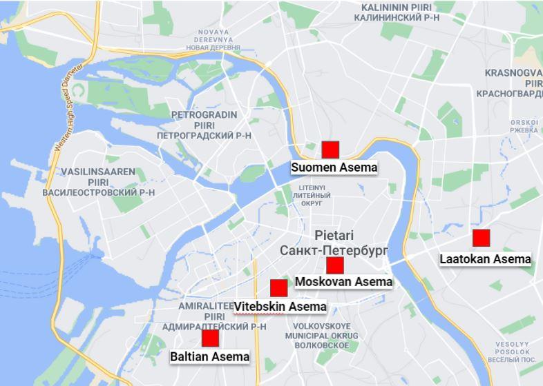 Pietarin juna-asemat