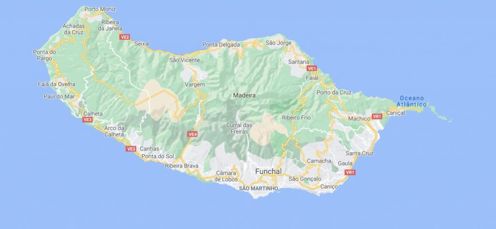 Madeiran kartta