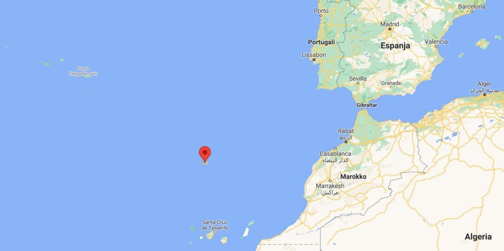 Madeiran sijainti kartta