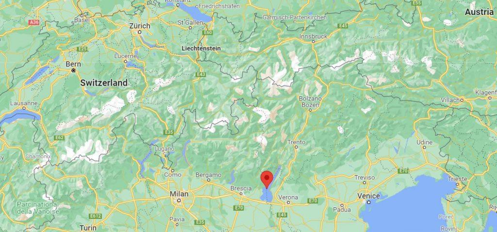 Gardajärvi kartta Italia